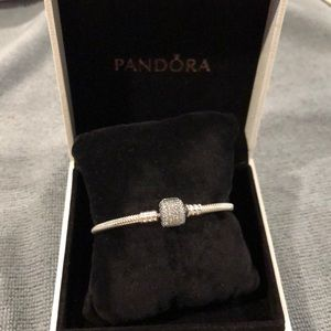 Authentic new  Pandora Signature bracelet